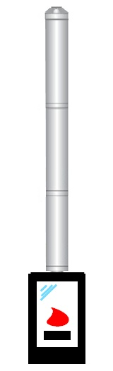 B1 3m x 150/250 Dn stainless steel insulated chimney