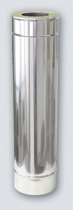 1 m x 150 Dn stainless steel insulated chimney